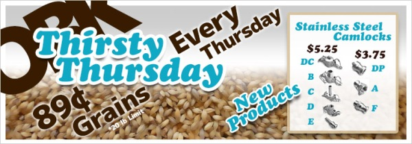 OBK Thirsty Thursday Weekly Deals!