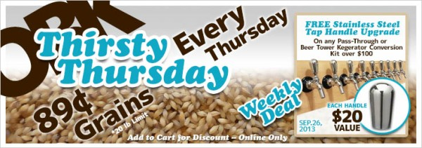 OBK Thirsty Thursday Weekly Deals