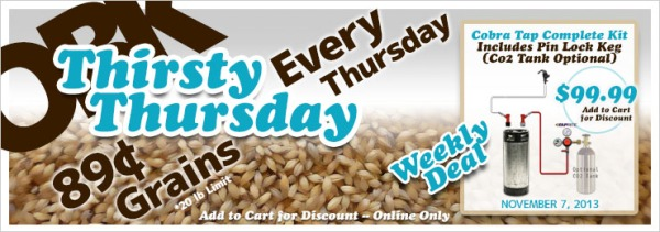 Thirsty Thursday Weekly Deals