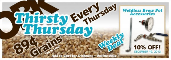 OBK Weekly Deals -- Thirsty Thursday